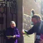 Synod Geraldine leafleting